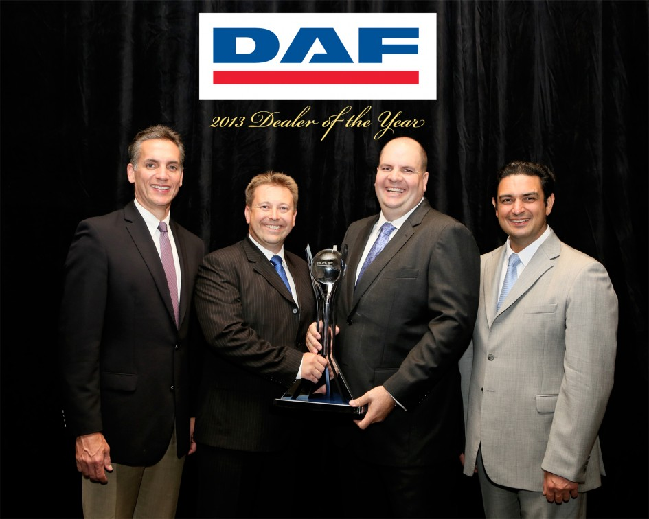 DAF 2013 dealer of the year